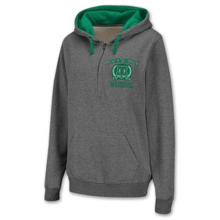 Hawaii Warriors Half Zip NCAA Womens Hoodie Grey