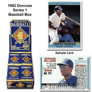 Donruss Mlb 1992 Series One Unopened Trading Card Box