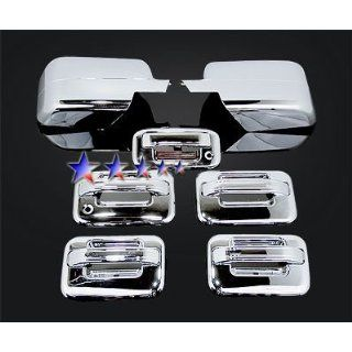 04 08 Ford F 150 Chrome 4 Door+Mirror+Tailgate Handle Covers Combo