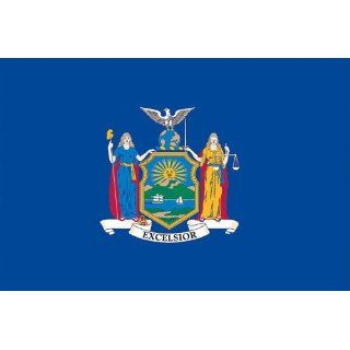 Valley Forge Nylon New York State Flag, measures 3 Foot x
