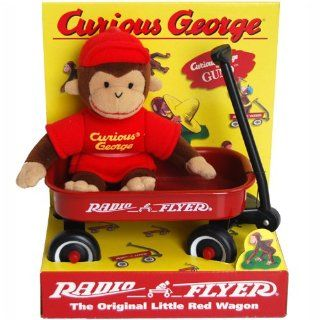 Radio Flyer Little Red Wagon   Curious George Monkey Bean