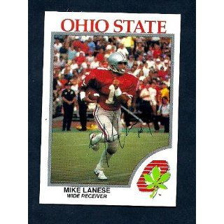 Mike Lanese Signed Autographed Ohio State Buckeyes Card