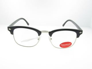 Retro 50s Style Horn Rimmed Clear Lens Glasses Mens or Womens