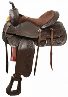Pleasure Trail Saddle in Chocolate by Double T New Horse Tack