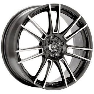 Enkei STR5 Black Machine (17x7 +42 5x114.3)    Set of 4 Wheels