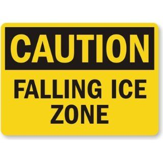 Caution Falling Ice Zone Sign, 18 x 12