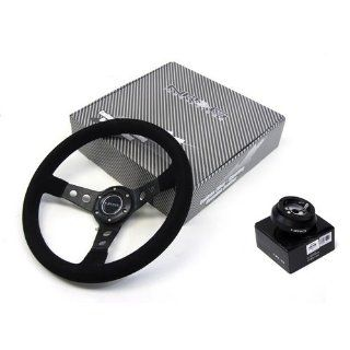 70 83 Jeep CJ5 NRG 320MM Steering Wheel + Hub Adapter Black Combo