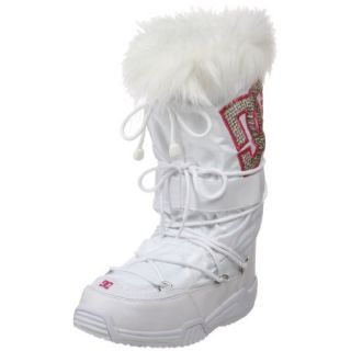 DC Womens Chalet LE Faux Fur Boot,White/Crazy Pink/Soft