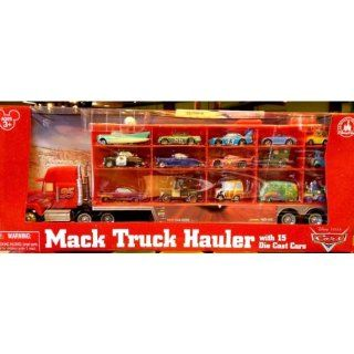 Disney Park Pixar Cars Mac Truck Semi with 15 Diecast Cars