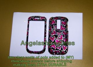 HEART rhinestone black pink silver BLING case cover HTC MY TOUCH phone