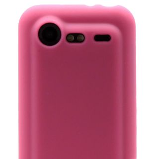 Pink Soft Skin Case Gel Rubber Cover HTC Incredible 2