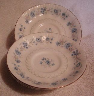 Set of 6 Royal Malvern England Bone China Saucer Plates