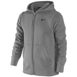 Nike Classic Fleece Swoosh Full Zip Hoodie   Boys Grade School   Grey