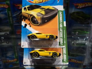 2012 Hot Wheels Treasure Hunt Ford Shelby GR 1 Concept Lot of 2