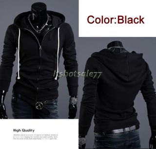 Men Fashion Stylish Slim Fit Hoodies ITS7 Long Sleeve Jackets Coats