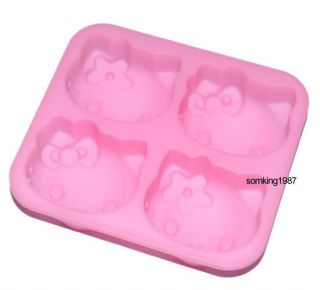Silicone Hello Kitty Shaped Cube Ice Trays Ice Candy Mould Maker Party