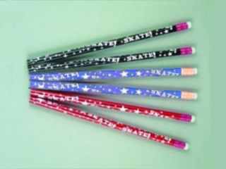 Ice Skating Pencils Colorful Party Favors