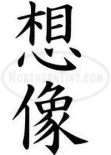 Imagine Chinese Kanji Character Symbol Vinyl Decal Sticker Wall Art