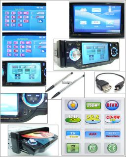 New 4 LCD in Car Dash DVD Player Touch Screen  TV CD FM Bluetooth