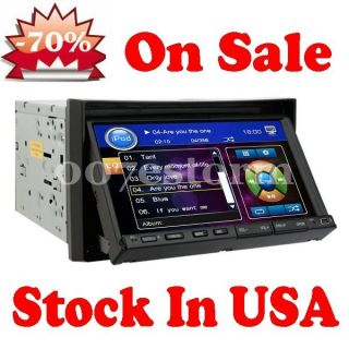 Spo Touch Screen 7 Car DVD Player in Dash Double DIN CD Radio iPod TV