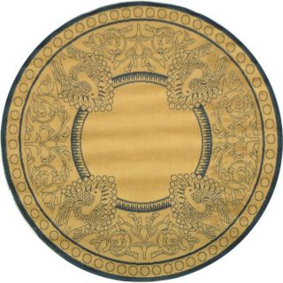 Natural Blue Indoor Outdoor Carpet Area Rug 5 Round