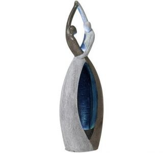 Couple Sculpture Contemporary Indoor Outdoor Water Fountain