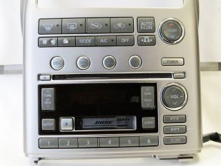 Infiniti G35 Bose 6 CD Disc Changer SAT Radio Stereo Faceplate Cowel