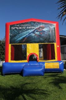 Inflatable bounce house Jumper Art Panel banners 13x13 Spiderman