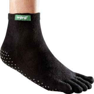Injinji Socks Original Weight Yoga Toe Sock Mini Crew Black 1pair