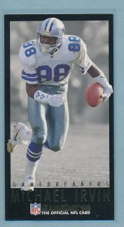 Michael Irvin 1993 Fleer NFL Game Day Game Breakers Insert Dallas