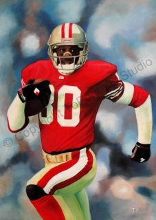 Jerry Rice San Francisco 49S Poster Canvas Oil Painting