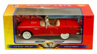 1956 Ford Thunderbird Convertible   124 Scale Diecast Model   Red