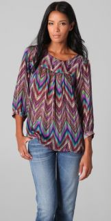 Tbags Los Angeles Print Blouse