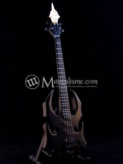 MINIATURE GUITAR BASS JERRY ONLY GRAPHITE DEVASTATO MISFITS CUSTOM