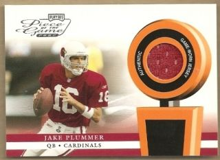 Jake Plummer 02 Playoff Piece of The Game Jersey Card
