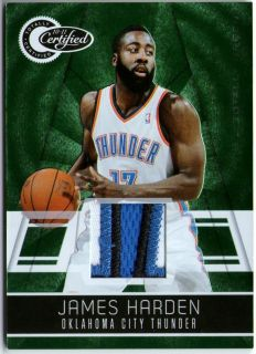 James Harden 2011 Certified Totally Green Patch Card 5 5 PMG