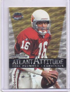 Jake Plummer 1999 Skybox Dominion Atlanta Attitude Gold Ed 01 16 $150