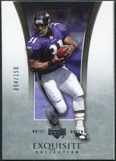 2005 Upper Deck Exquisite Collection 3 Jamal Lewis 150