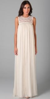 ADAM Chiffon Dress with Lace Yoke