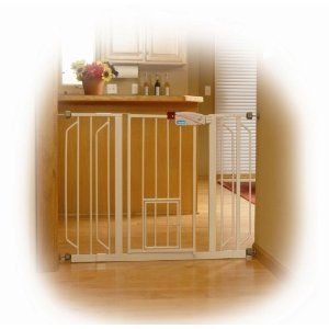 Carlson 0930PW Extra Wide Walk Thru Baby Safety Gate with Pet Door