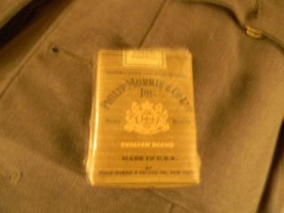 Vintage SEALED Philip Morris Cigarettes US Military WWII Pack
