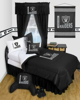 Oakland Raiders Twin Full Queen Comforter Bedroom Sets
