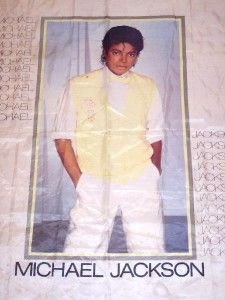 Michael Jackson Cloth Fabric Wall Poster Vintage 1983