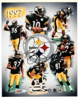 Jerome Bettis Steelers Signed 1997 Collage Full Name