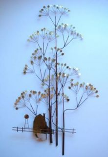 Curtis C Jere Original Signed Metal Art Tree Sculpture