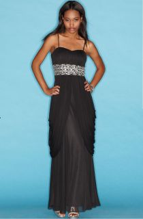 Darlin $140 Black Women Evening Dress Cruise Ball Gown 6