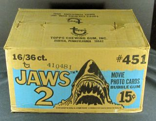 1978 Topps Jaws 2 Trading Card Case 16 Boxes