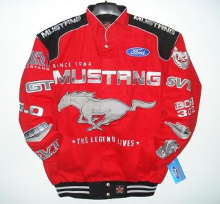 Size 4XL Ford Mustang Racing Cotton Red Jacket New XXXXL