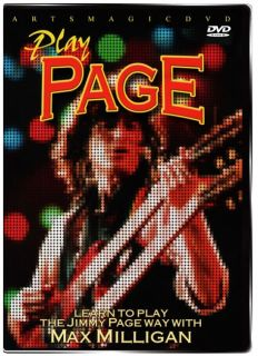 ArtsMagic PLAY Jimmy PAGE Guitar Instructional DVD Riffing with Max