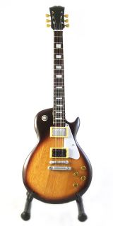 Miniature Guitar Jimmy Page Gibson Les Paul Number Two Sunburst Free